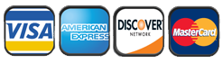 We Accept Visa MasterCard Discover and American Express in 95821